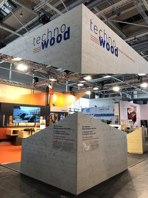 Technowood Messestand Live Kommunikation Event Grossanlass Veranstaltung Architektur
