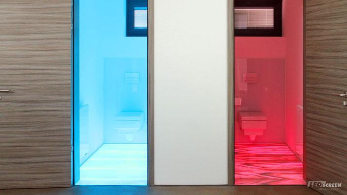 Beleuchteter Glasboden - WC - © LEDscreen®