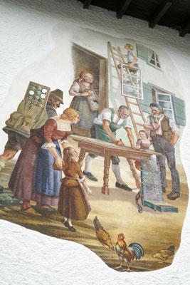 Lüftlmalerei Geschäft Kochel - © Glaserei Allgäuer