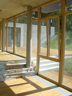 Fenster und Türen - Neubau - Holzfenster - © Glaserei Allgäuer