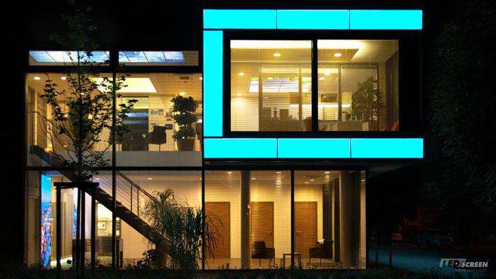 Beleuchtete Fassadenisoliergläser - WC - © LEDscreen®