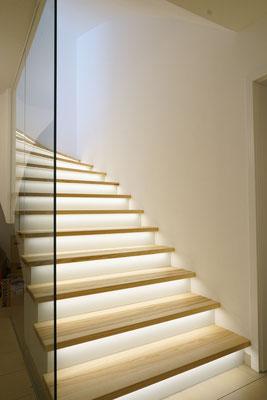 Glasbrüstung - Absturzsicherung - Treppengeländer - © Glaserei Allgäuer