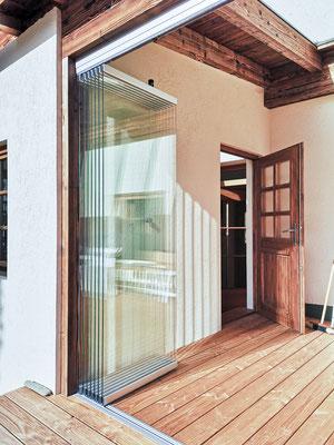 Schiebeverglasung - Terrassenverglasung - Schiebe-Dreh-Verglasung © Glaserei Allgäuer