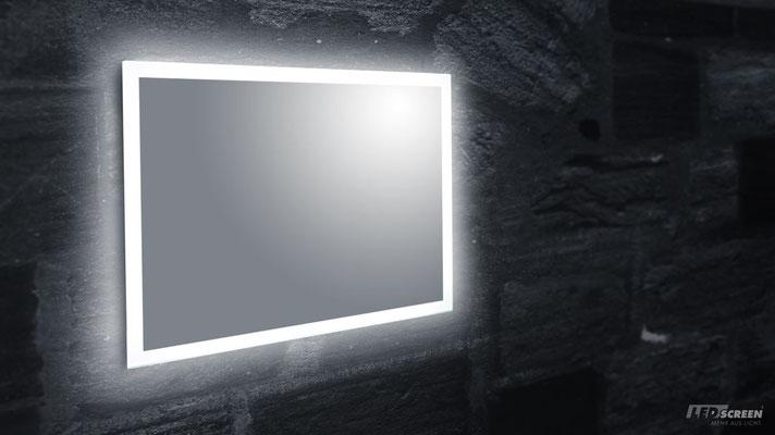 LED Spiegel rückseitig beleuchtet - © LEDscreen®