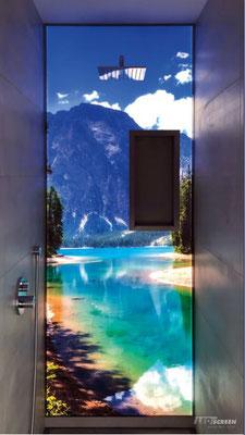Dusche - Duschrückwand beleuchtet - © LEDscreen®