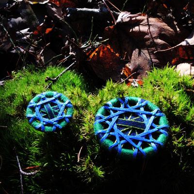 Zwirnknopf-Anhänger | Ø 24 mm | Material: Baumwolle, Aluminium