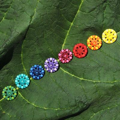 8 Zwirnknöpfe | Ø 20 mm | Material: Baumwolle, Aluminium