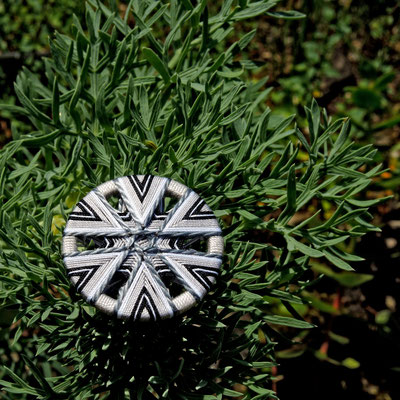 Zwirnknopf   Ø 36 mm   Material: Baumwolle, Aluminium