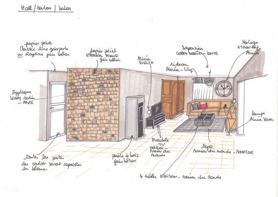 Atelier Inside-projet entrée salon