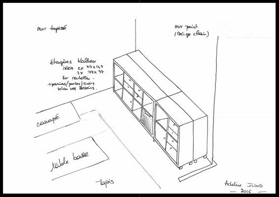 Atelier Inside-  ikéa kallax