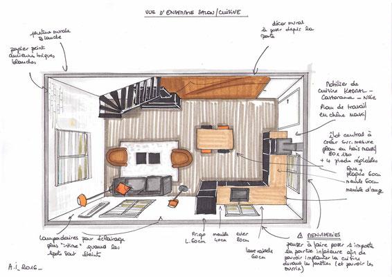 Atelier Inside-projet salon cuisine