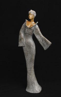 La dame au Kimono  h 75 cm