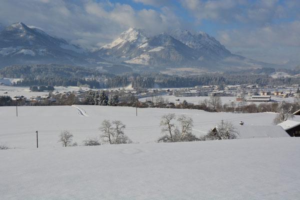 Traumhafte, frisch verschneite Winterwelt