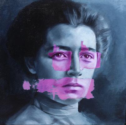 Frau | Öl auf Leinwand | 40 x 40 cm