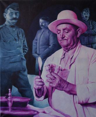Eisamnn | 2014 | Ölfarben auf Leinwand | 120 x 100 cm
