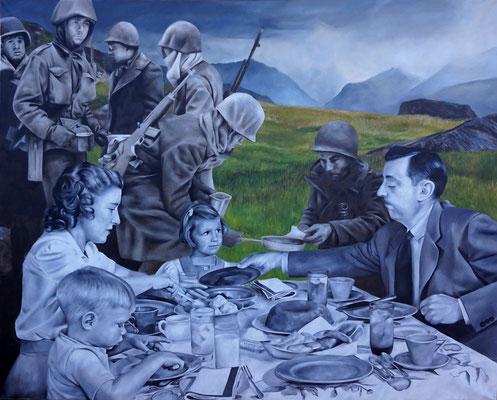 Picknick | 2015 | Ölfarben auf Leinwand | 120 x 150 cm | verkauft