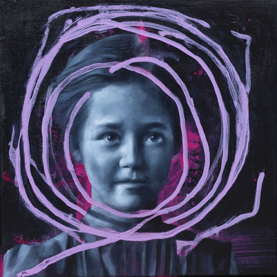 Mädchen | Öl auf Leinwand | 40 x 40 cm