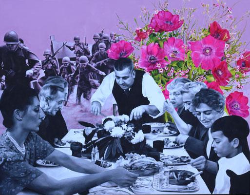 Gesegnete Mahlzeit | 2016 | Ölfarben auf Leinwand | 140 x 180 cm