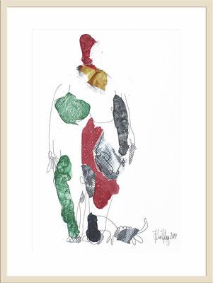 """""""Kunstwerk Mensch - Mit Hund"""" Kim Kluge 2019"""