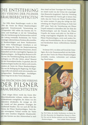 """Auszug aus dem Comic """"DIE STORY VOM PILSNER BIER - PILSNER URQUELL"""" mit Autogramm von P. Stelzer"""