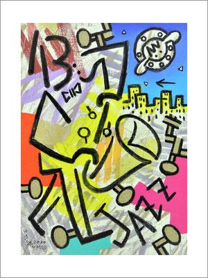 JAZZ-F4号(33,4x24,2cm)---キャンバスに油彩-2020-桜株ギャラリー九十九伸一館