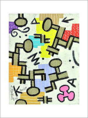 クラウドマンシティー-0号(18x14cm)-キャンバスに油彩-2020-桜株ギャラリー九十九伸一館