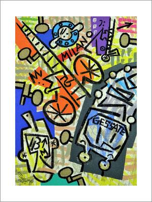 ミラノストーリー(M)-F4号(33,4x24,2cm)-キャンバスに油彩-2020-桜株ギャラリー九十九伸一館