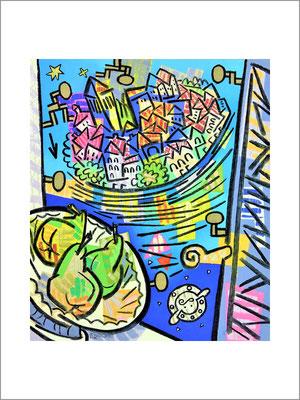オルタの思い出-F10号(53x45)-キャンバスに油彩-2020-桜株ギャラリー九十九伸一館