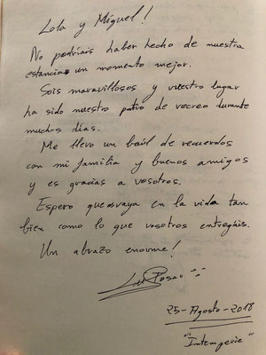 Dedicatoria Luis Tosar, protagonista de Intemperie