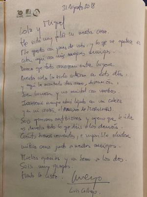 Dedicatoria Luis Callejo, protagonista de Intemperie