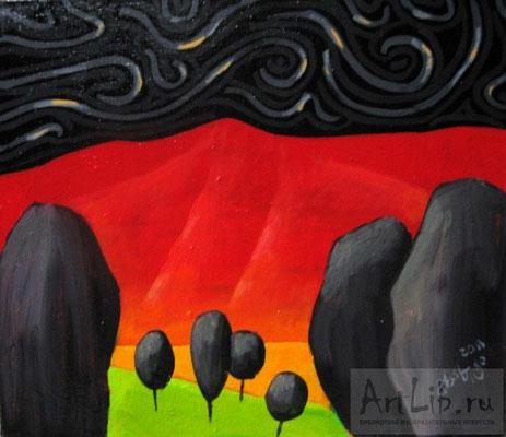 """Black trees"". Художник Г. Хахуташвили"