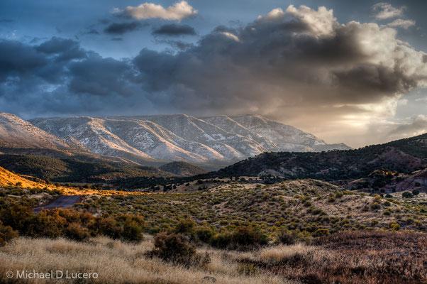 Winter light near Richfield, Utah