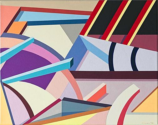 """Angles and Blocks #4"", acrylic on canvas"