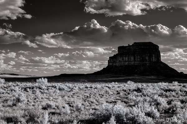 Fajada Butte, NM, as seen in afternoon light from Chaco Canyon NHM