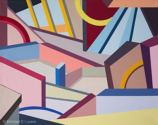 """Angles and Blocks #2"" acrylic on canvas"