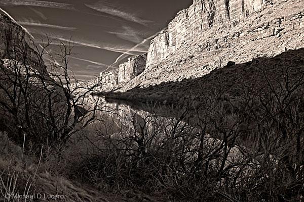 Morning light on the Colorado River near Moab, Utah