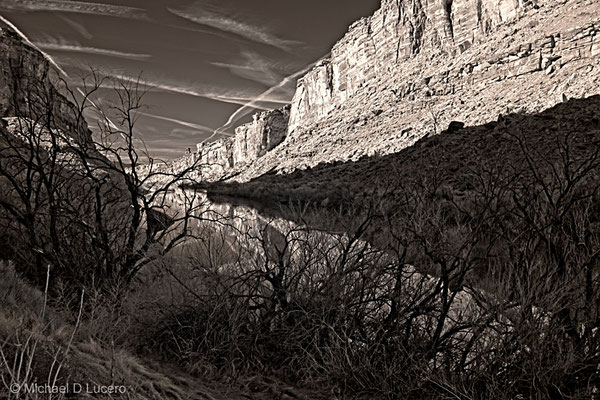 Morning light on the Colorado River near Moab, Utah