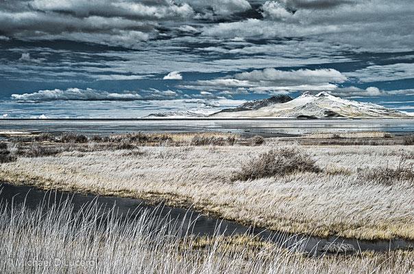 Winter light on the Great Salt Lake, Utah