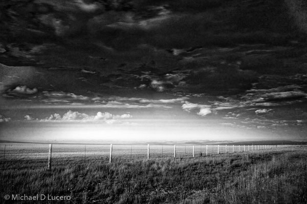 Sunset in an open range in Wyoming. Photographed using infrared film.