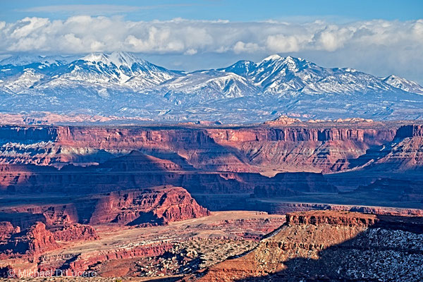 Afternoon light looking toward the La Sal Mountains from Canyonlands NP, Utah