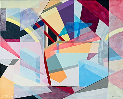 """Angles and Blocks #3"", acrylic on canvas"