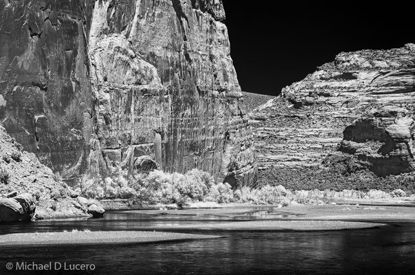 Green River, Dinosaur NM, Utah. Photograph taken with an infrared converted camera