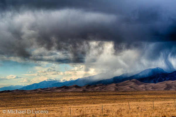 Storm on the Great Sand Dunes NP, Colorado