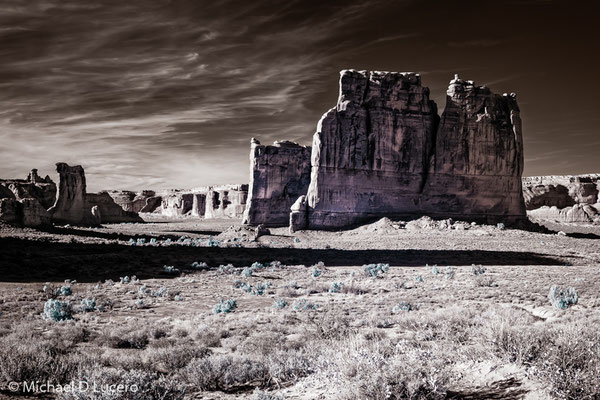 Infrared capture, Arches NP, Utah