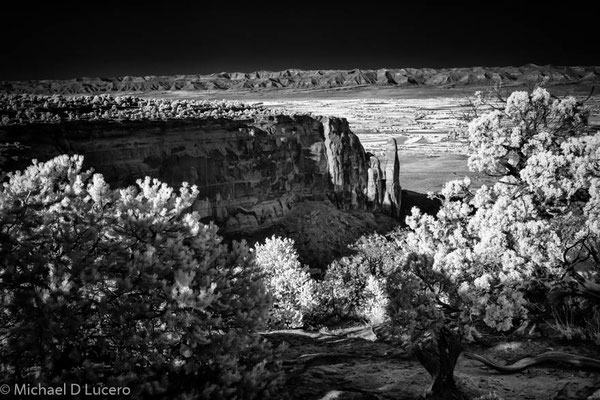 Colorado National Monument, Colorado. Photograph taken with infrared converted camera