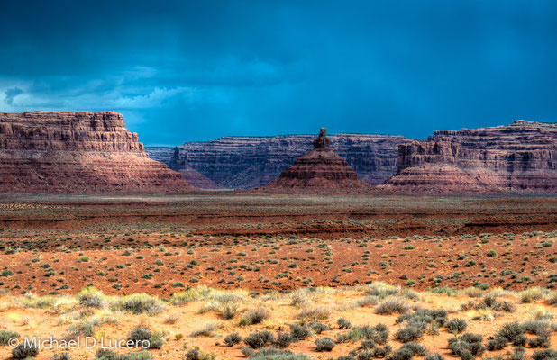 Storm approaching at the Valley of the Gods, Utah