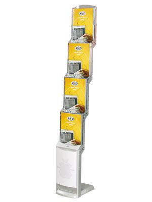 Faltprospektständer mit Tragetasche Real Zip Silver