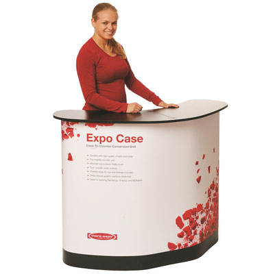 Expo Case Falttheke Maxitheke rollkoffer Transportcontainer