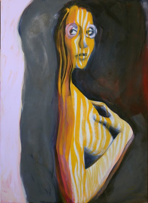 NARZISSE, Acryl auf Nessel, 115x80 cm, 2016 (verkauft)