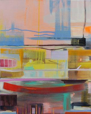Zeitrauschen I / Acryl auf Leinwand, 50 x 40 cm, 2017